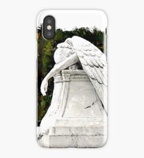 Weeping Angel watercolour iPhone Case