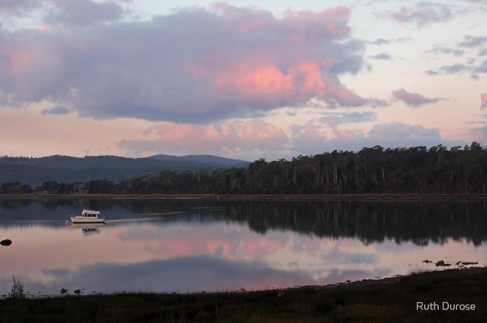 Tamar River Reflections - Blackwall, Tasmania by Ruth Durose