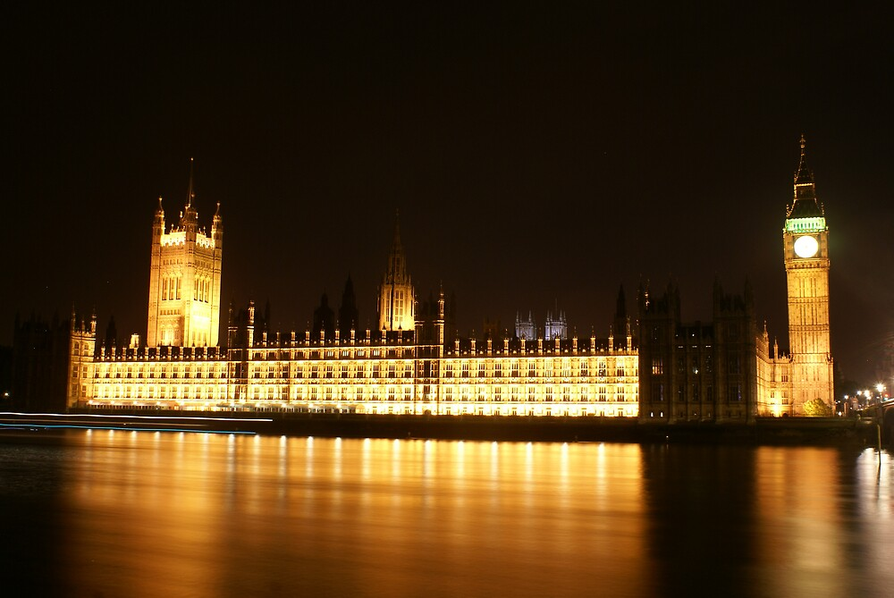 Houses of Parliament @ Night by Kiwikiwi