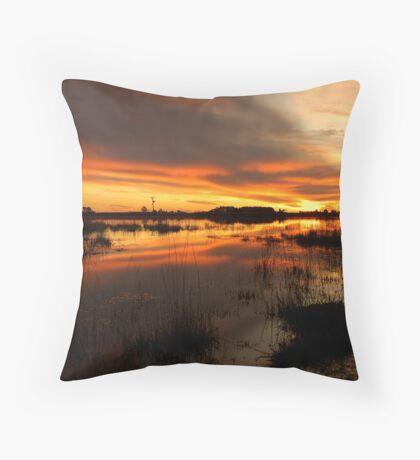 Golden Pond  Throw Pillow