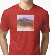 Landscape in Purple, Orange, and Greens Tri-blend T-Shirt