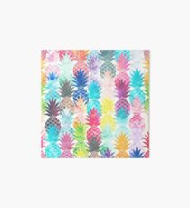 Hawaiian Pineapple Pattern Tropical Watercolor Art Board
