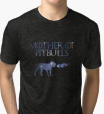 Mother Of Pitbulls (Galaxy) Tri-blend T-Shirt