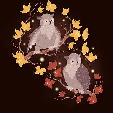 Owls by Elenanaylor