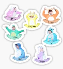 BTS Aufkleberset Kigurumi - Check Description Sticker