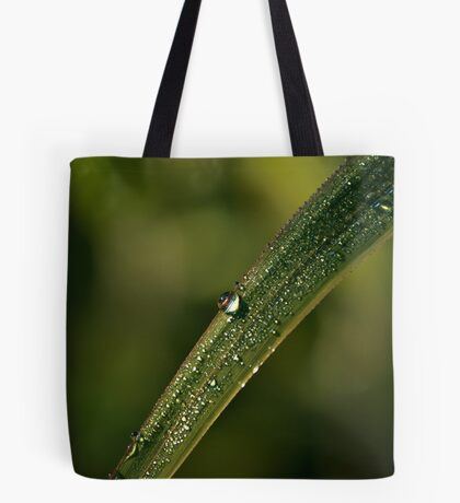 Beautiful Clear and Green Morning Drop Tote Bag