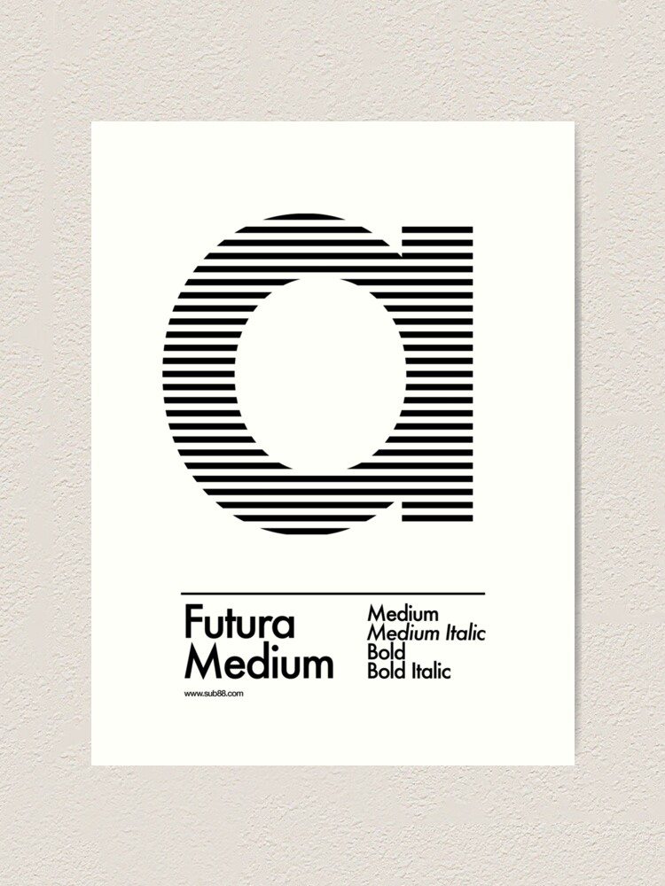 Alternate view of The Letter a Futura Type Art Print