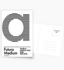 The Letter a Futura Type Postcards