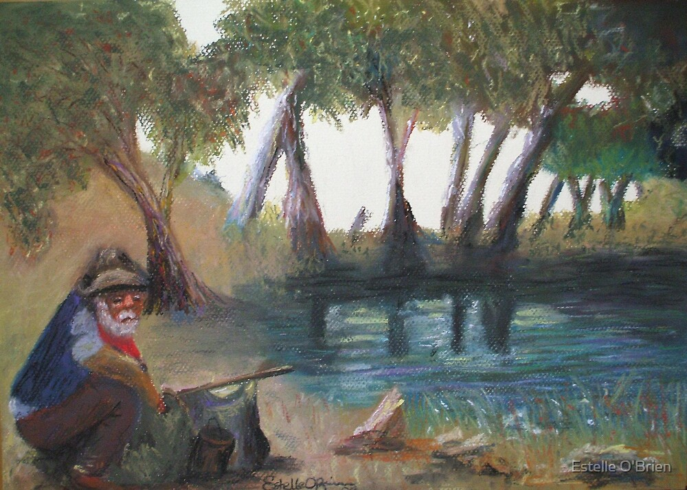"""""""Once a jolly swagman, camped by a billabong..."""" by Estelle O'Brien"""