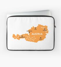 austria map Laptop Sleeve