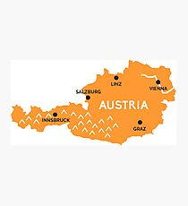 austria map Photographic Print