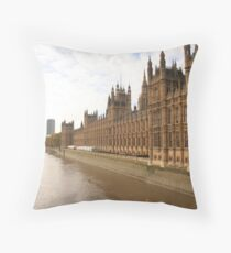 Houses of Parliment on the banks of the river Thames Throw Pillow