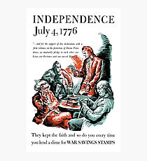 Independence July 4, 1776 Photographic Print
