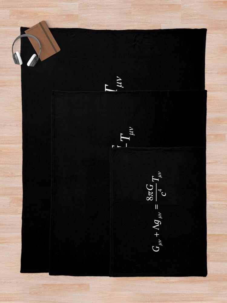 Alternate view of Einstein field equation Throw Blanket