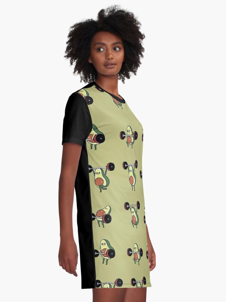 Alternative Ansicht von OLYMPISCHE HEBE Avocado T-Shirt Kleid