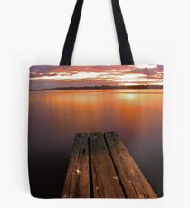Swan River Jetty Sunset  Tote Bag