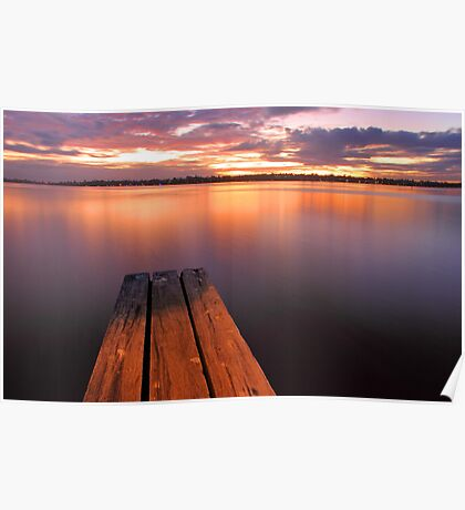 Swan River Jetty Sunset  Poster