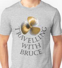 Travelling with Bruce Propeller Logo Unisex T-Shirt