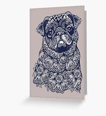 Mandala of Pug Greeting Card
