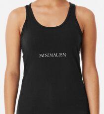 Minimalism - Word White On Black Tanktop für Frauen