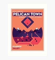 Welcome to Pelican Town - Stardew Valley Art Print