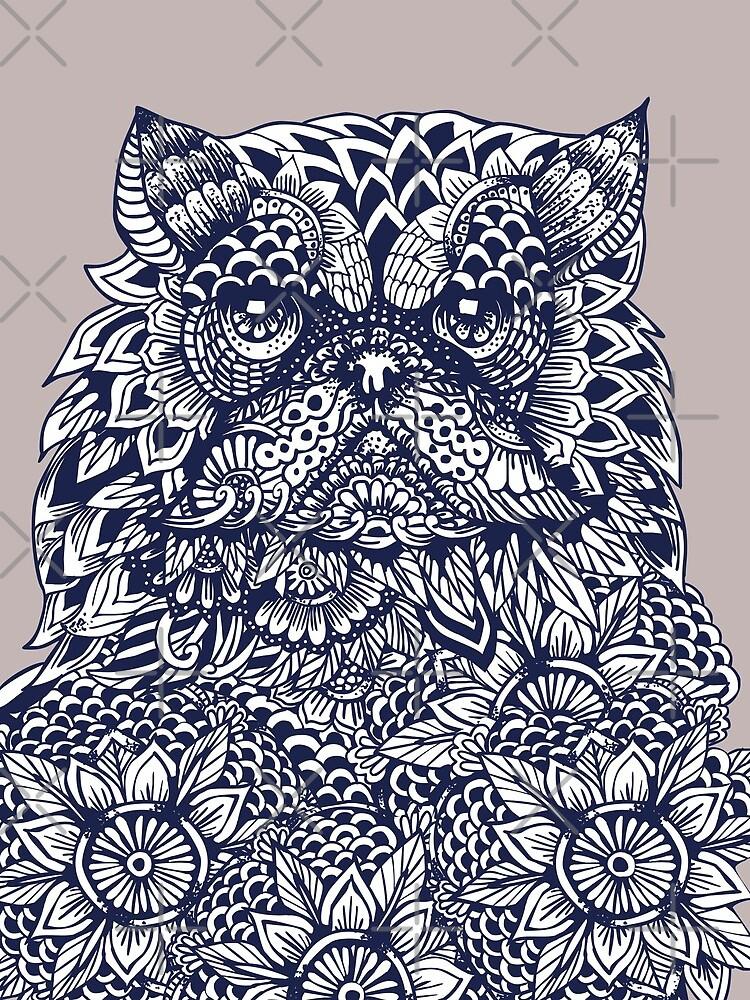 Mandala de gato persa de Huebucket