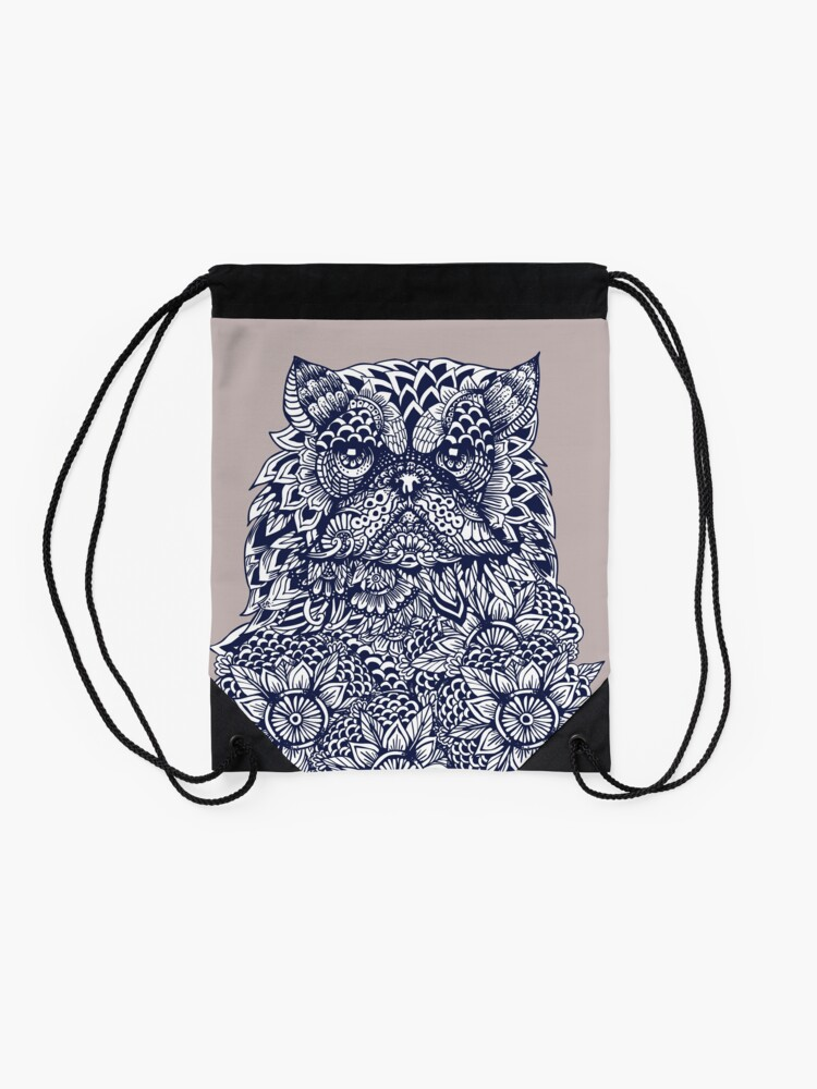 Vista alternativa de Mochila de cuerdas Mandala de gato persa