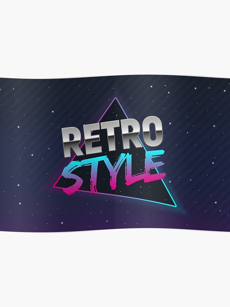 The poster in Retro style  Old style banner  Retro style disco  80s  background  | Poster