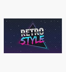 The poster in Retro style. Old style banner. Retro style disco. 80s background. Photographic Print
