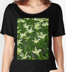 Green Tulips Women's Relaxed Fit T-Shirt