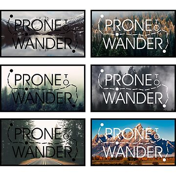 Prone to Wander Sticker Pack by MeInTheMirror