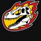 Flaming Gorgosaurus! by David Orr