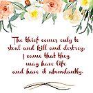 Der Dieb kommt | Reiches Leben Christus-Zitate von PraiseQuotes