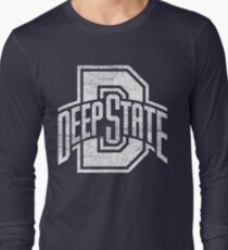 Deep State (White) Long Sleeve T-Shirt