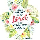 Diejenigen, die hoffen | Erneuere ihre Stärke | Bibel Vers von PraiseQuotes