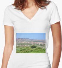 Vastness  Women's Fitted V-Neck T-Shirt