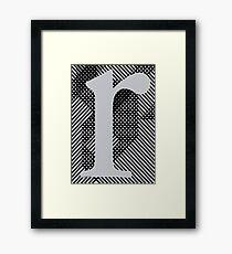 r / grey Framed Print