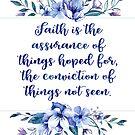 Glaube ist die Versicherung | Glauben Zitate aus der Bibel von PraiseQuotes