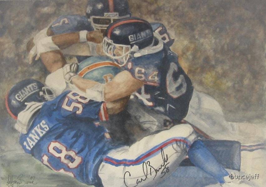 Carl Banks of the New York Giants Football by buncejeff
