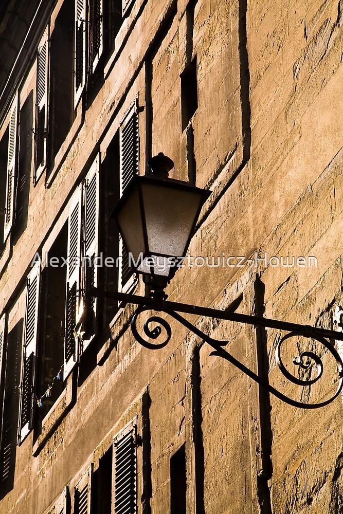 Sunlit wall in the old town by Alexander Meysztowicz-Howen