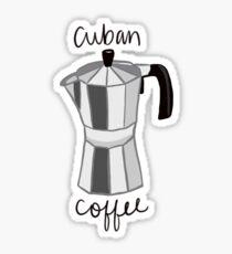 Pegatina Cafetera cubana