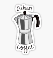 Cuban Coffee Maker Sticker