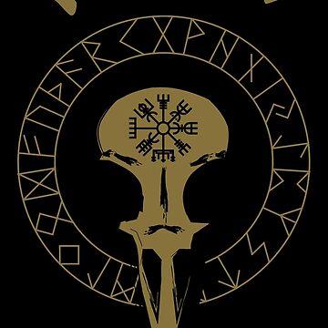Heath to death | Rune compass by Skady666