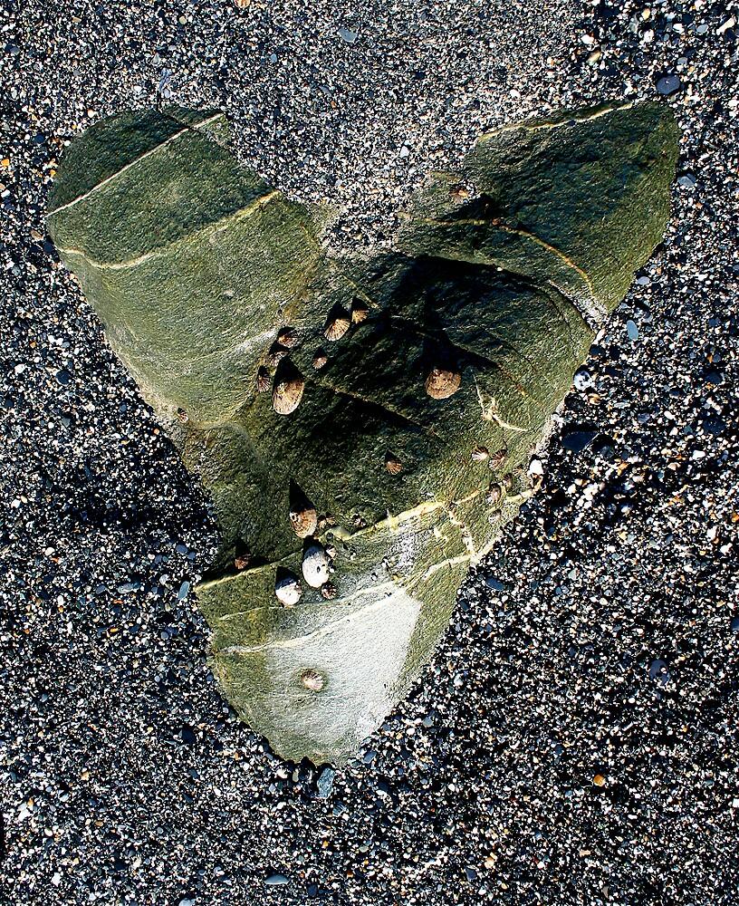 Green heart Stone, Cornwall.. by Amanda Gazidis