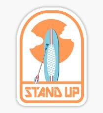 Stand up paddle boarding Sticker