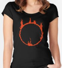 Dark Sign - Red  Women's Fitted Scoop T-Shirt