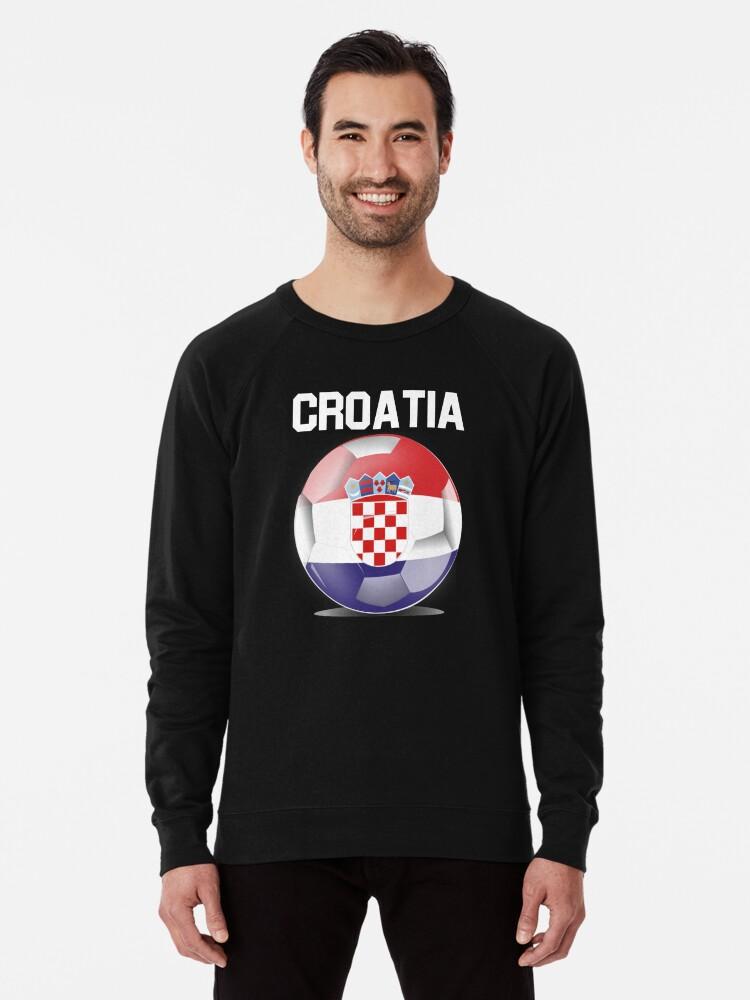 162ff14515c Croatia Soccer Shirt - Croatia Football Shirt - Croatian Soccer Shirt  Lightweight Sweatshirt Front