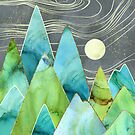 Moonlit Mountains by spacefrogdesign