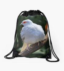Portrait of a Diamond Dove Drawstring Bag