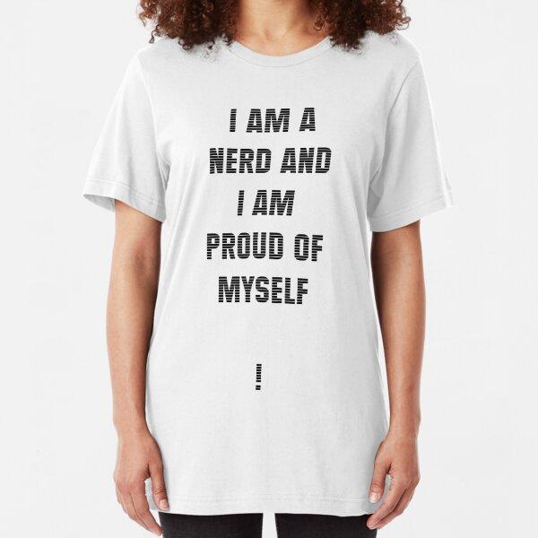 Nerd (Black Text) Slim Fit T-Shirt